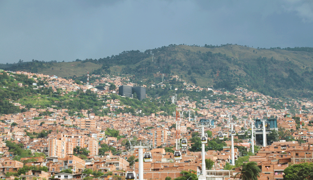 le metro cable de Medellín