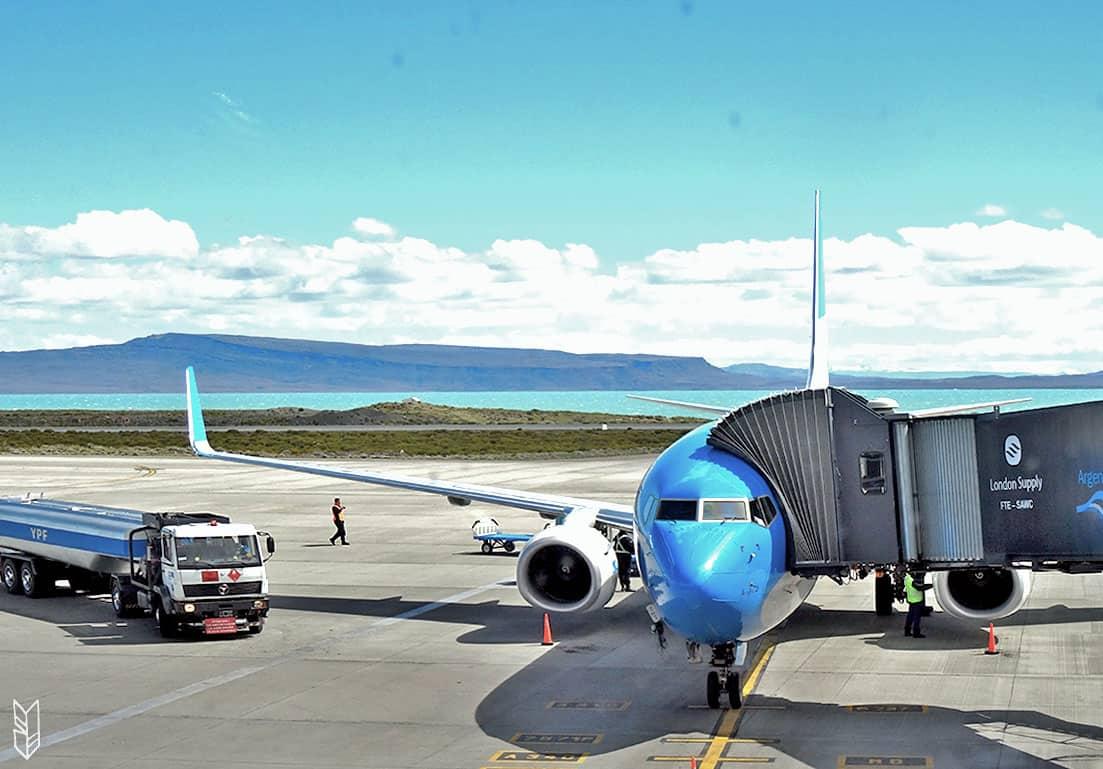l'aéroport d'El Calafate en Patagonie