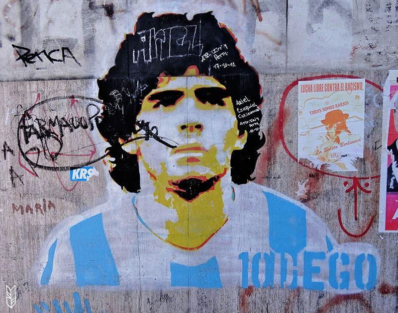 Maradona sur les murs d'Argentine