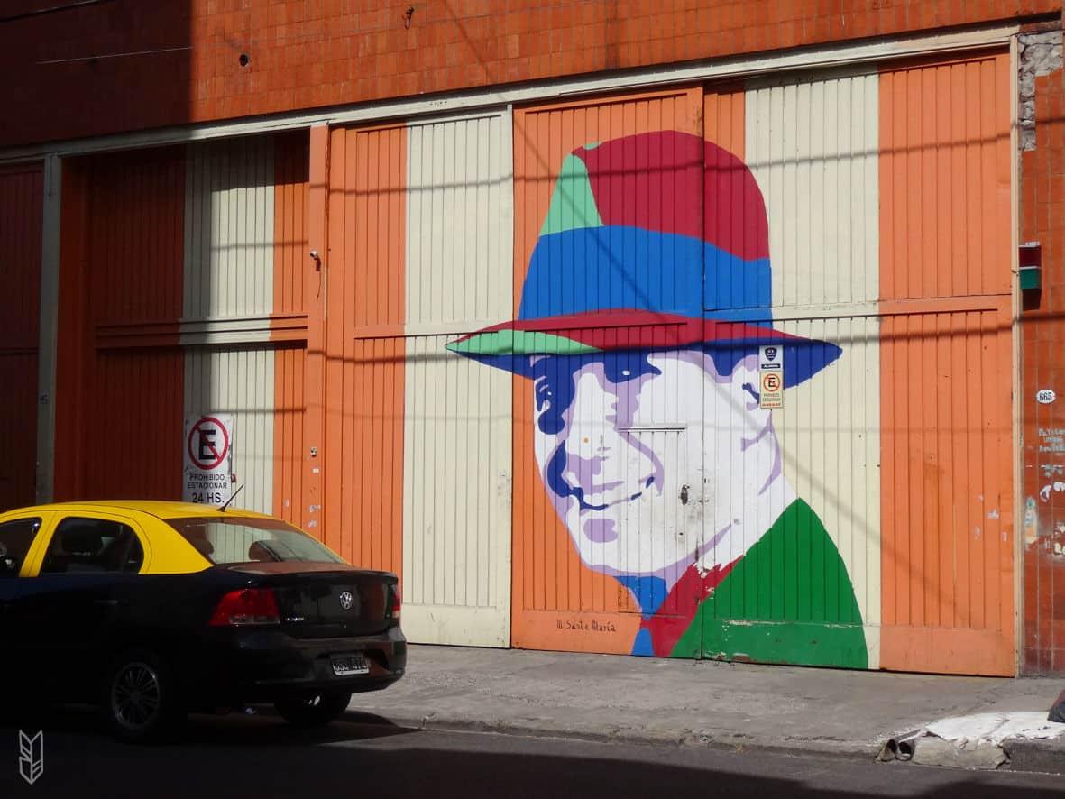 Carlos Gardel Street sur les murs