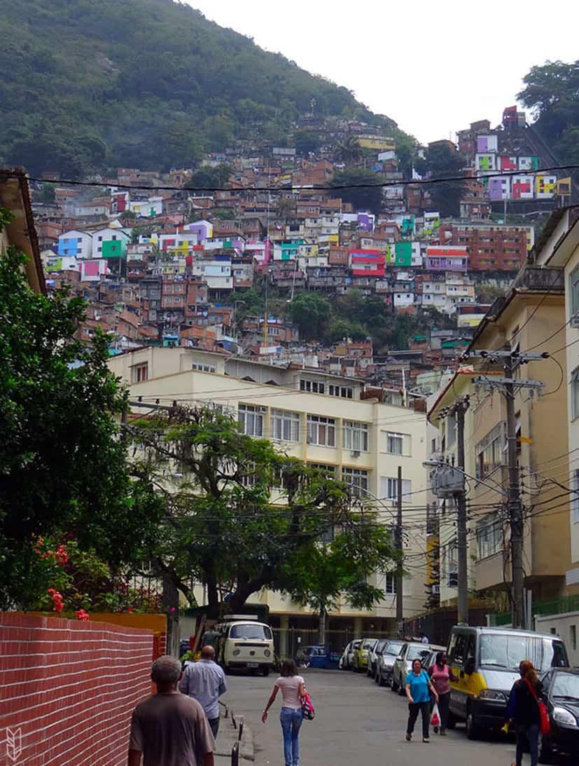 la favela Santa Marta, au Brésil