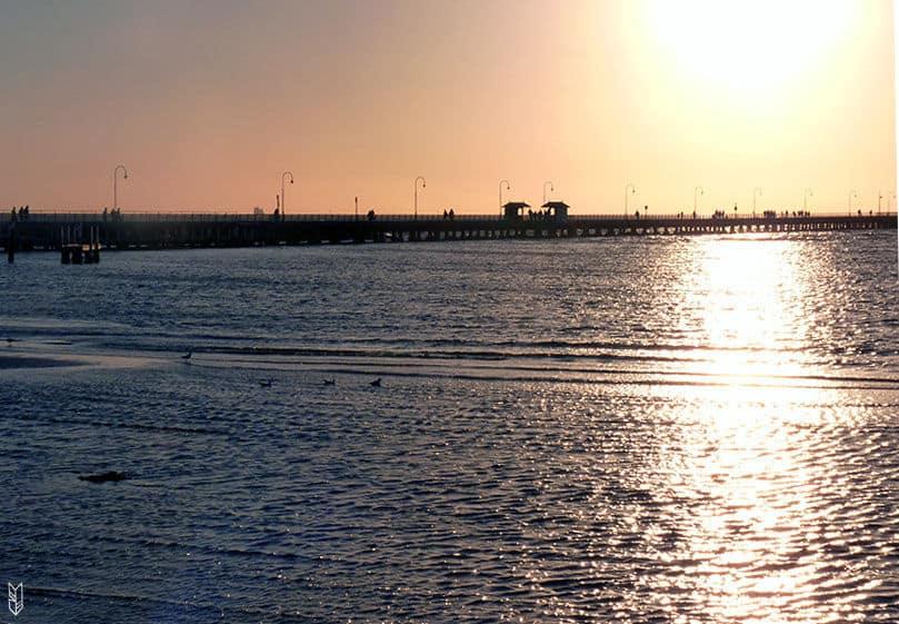 le coucher du soleil à Melbourne