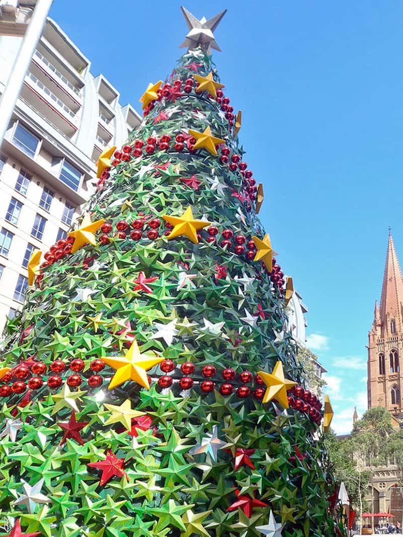 le sapin de Noël à Melbourne
