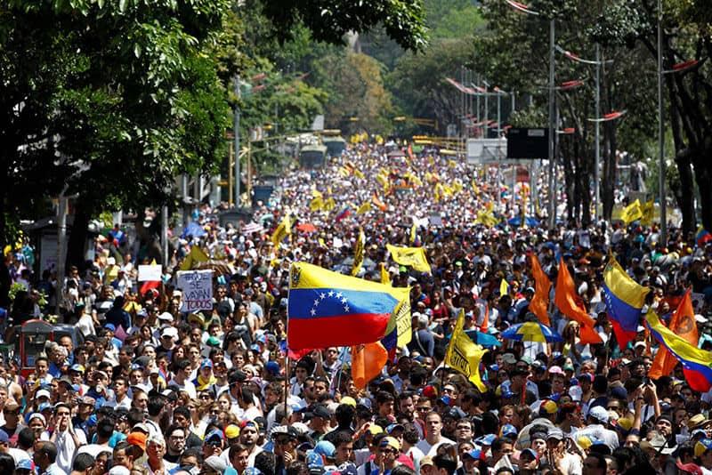 les manifestations étudiantes au Venezuela en 2014
