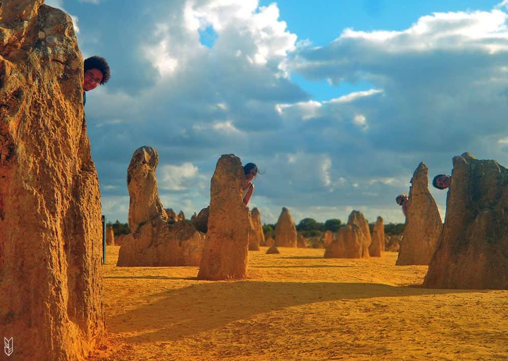 Dans le désert de Pinnacles, Perth - Australie