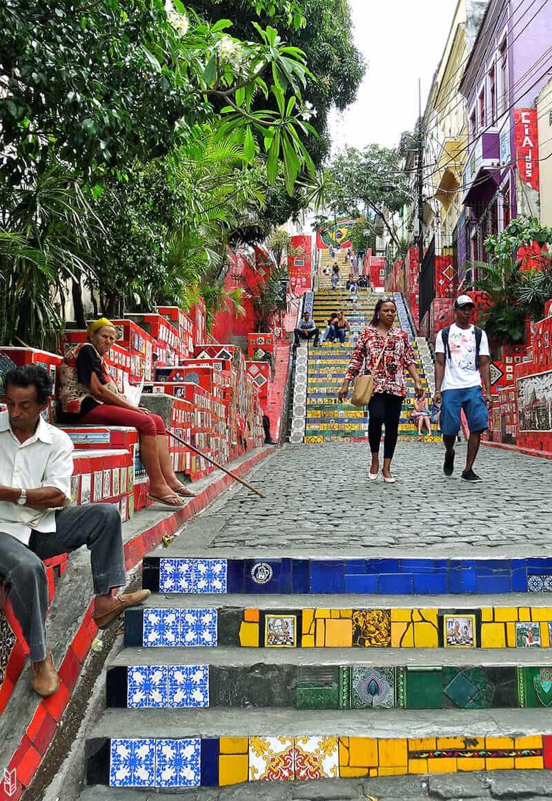 Escadaria Selaron à Rio