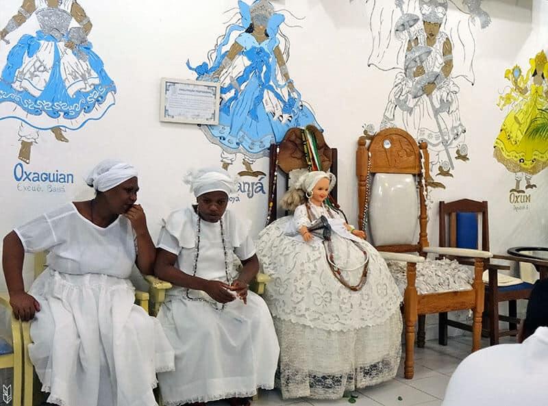 une cérémonie de candomblé au Brésil