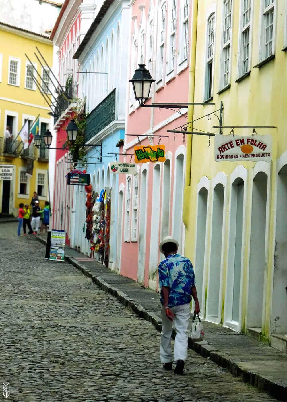 les rues de Salvador de Bahia