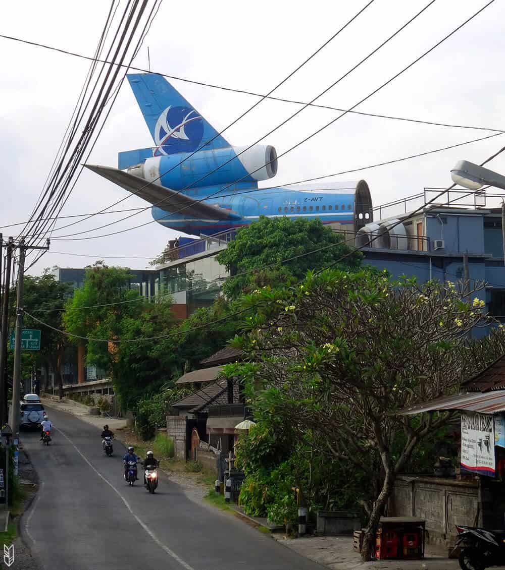le restaurant-avion de Bali