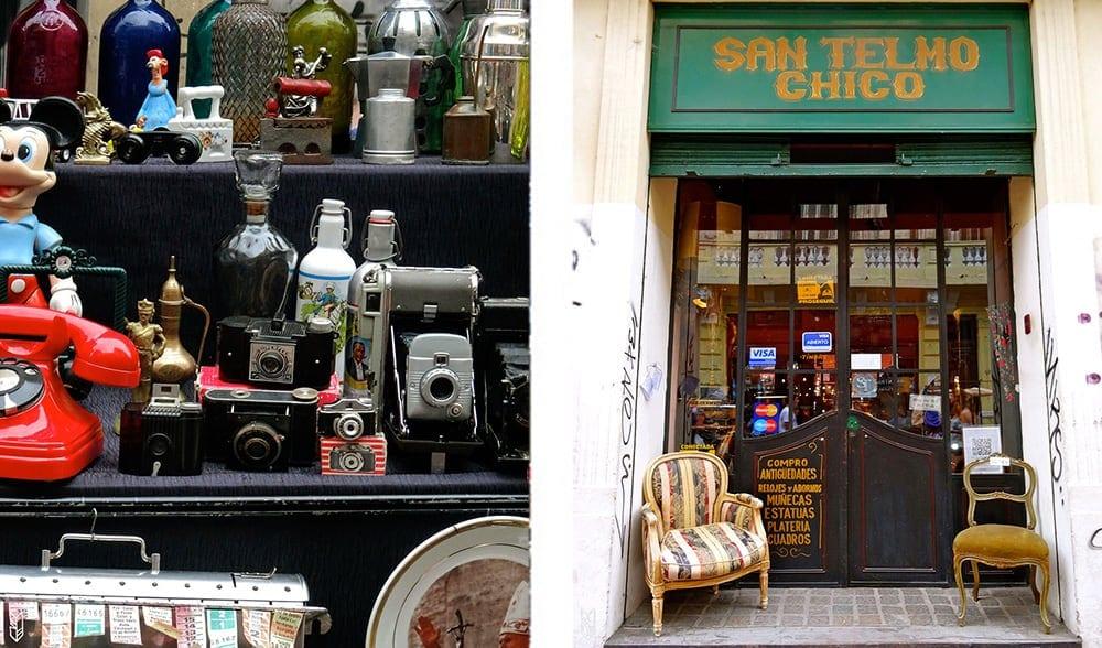 les antiquaires au marché de San Telmo - Buenos Aires