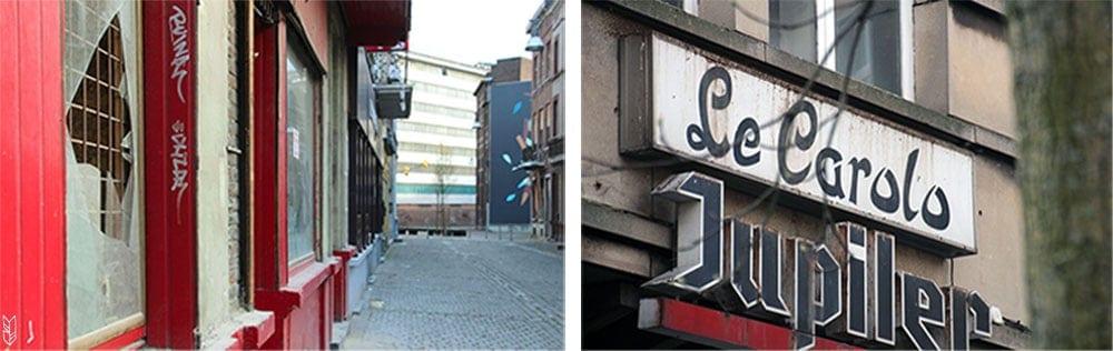 dans les rues de Charleroi