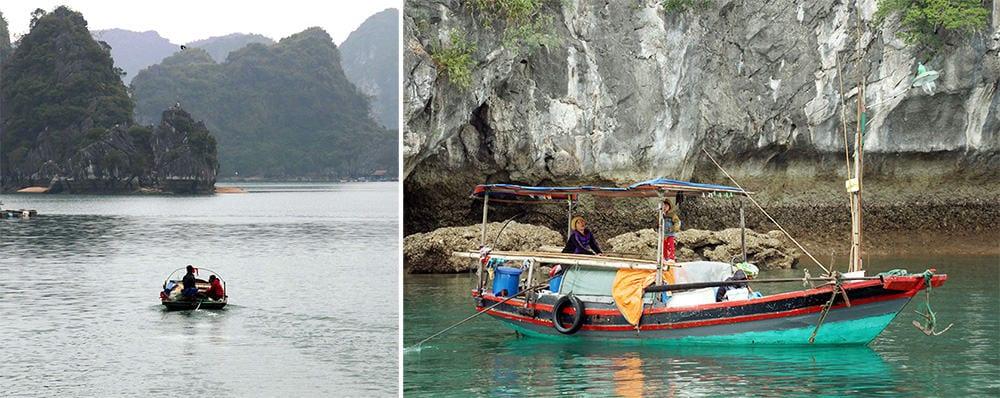 la vie des pêcheurs sur la Baie d'Halong