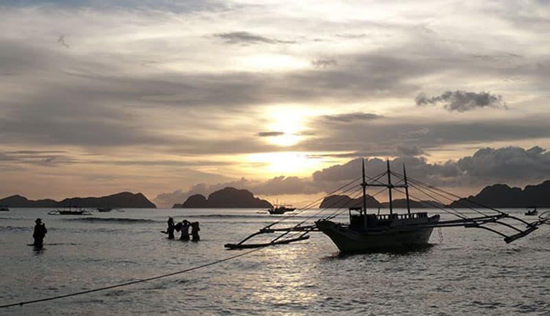 les couchers de soleil aux Philippines