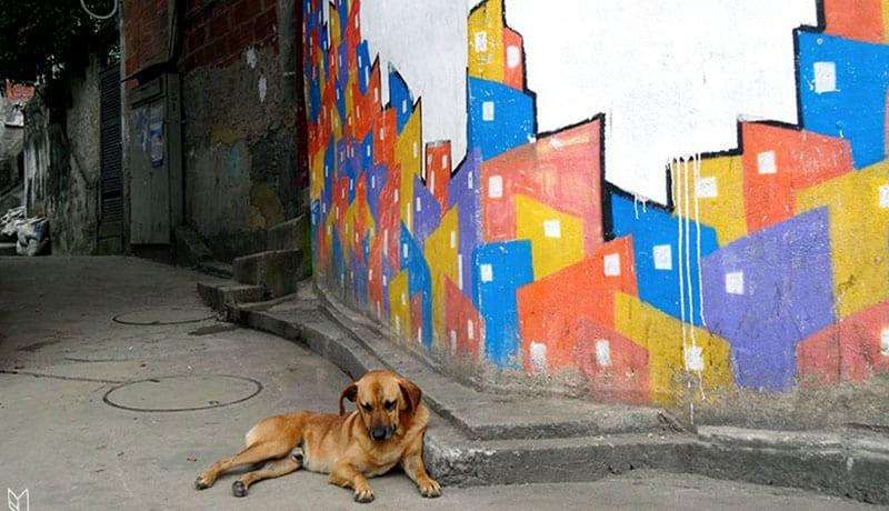 la favela Santa Marta à Rio