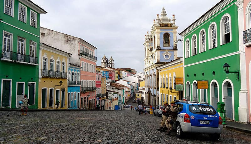 Pelourinho à Salvador de Bahia - Brésil