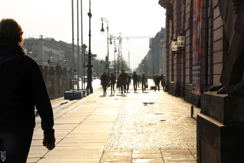 les rues de Berlin en hiver