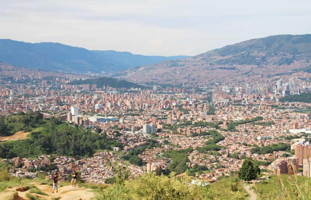 vue depuis le Cerro de las Tres Cruces