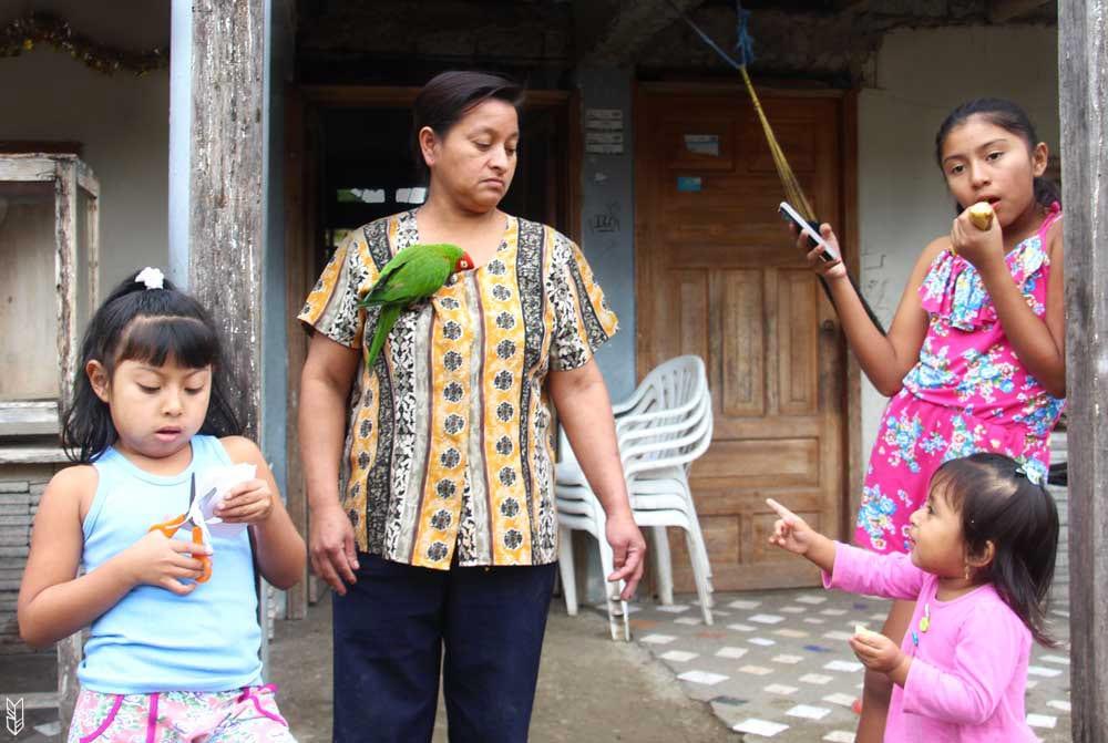 le village d'Olón en Équateur