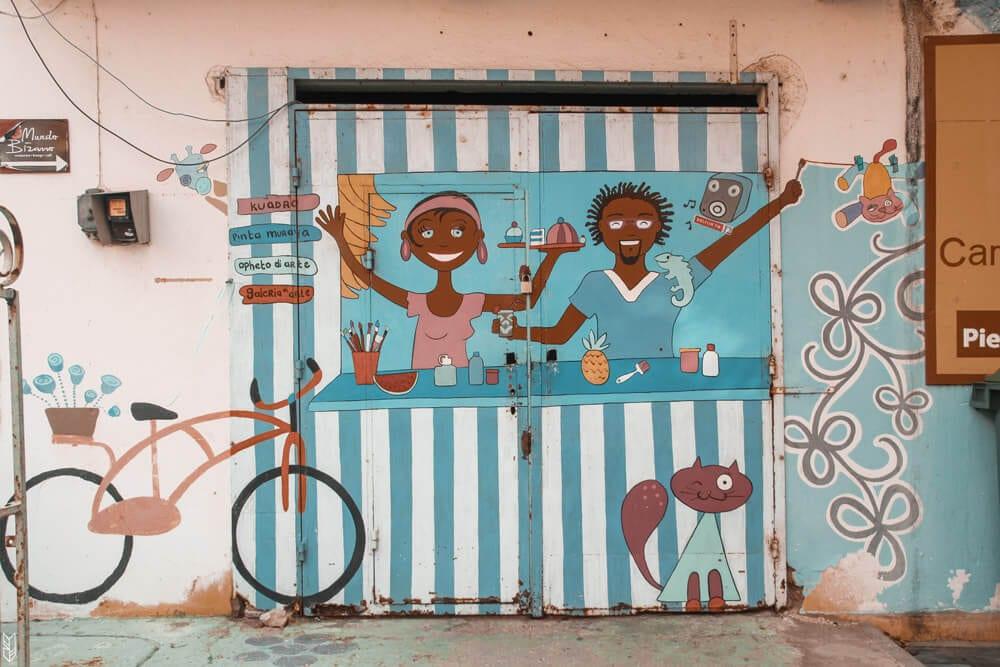 les rues du centre-ville de Curaçao